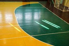 Interior of a sport games hall stock photo