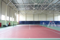 Interior of sport tennis club Stock Image