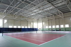 Interior of sport tennis club Royalty Free Stock Image