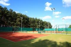 Interior of sport tennis club Stock Images