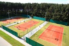 Interior of sport tennis club. Interior of modern tennis european sport club Royalty Free Stock Photos
