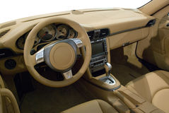 Interior of Sports Car Royalty Free Stock Image