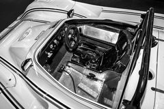 Interior of the sports car Lucchini Sport Prototipo, 1989. Stock Images