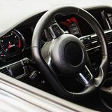 Interior of the sports car Stock Photos