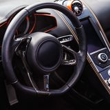 Interior of the sports car Royalty Free Stock Photography