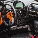 Interior of the sports car Royalty Free Stock Image