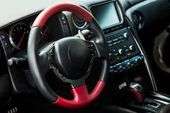 Interior of the sports car Royalty Free Stock Photo