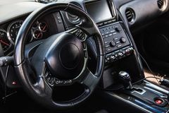 Interior of the sports car Stock Images