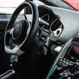 Interior of the sports car Royalty Free Stock Photos
