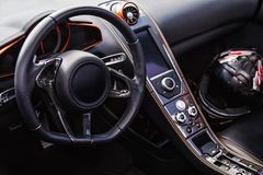 Interior of the sports car Royalty Free Stock Images