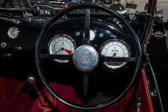 Interior of the sports car Suffolk SS100 replica of the Jaguar SS 100, 1992. Stock Photography