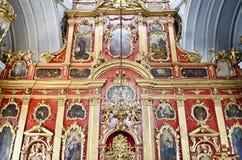 Interior of St. Andrew's church in Kiev Royalty Free Stock Image