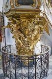 Interior of St. Andrew's church in Kiev stock photography