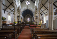 Interior of St Andrews Church in Castle Combe. St Andrews is the anglican parish church of Castle Combe. The church dates from the 13th century and photo shows royalty free stock images