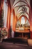Interior of St Bartholomew Cathedral in Frankfurt am Main Germany Stock Photography