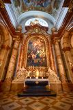 Interior of St. Charles' Church Royalty Free Stock Photos