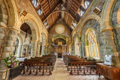 Interior of St Conan's Kirk located in Loch Awe,  Scotland Stock Photography
