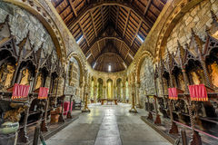 Interior of St Conans Kirk located in Loch Awe,  Scotland Royalty Free Stock Photography