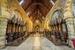 Interior of St Conans Kirk located in Loch Awe,  Scotland Stock Image