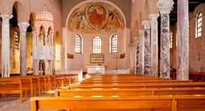 Interior of the St. Euphemia Basilica, Grado Royalty Free Stock Photo