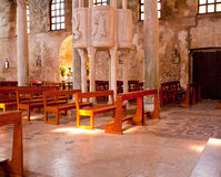 Interior of the St. Euphemia Basilica, Grado Stock Photos