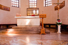 Interior of the St. Euphemia Basilica, Grado Stock Image