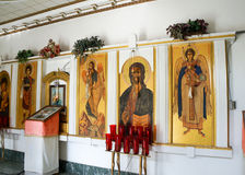 Interior of St. George Antiochian orthodox church Stock Image