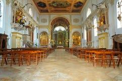 Interior of St. George church,. Piran - Slovenia royalty free stock photos