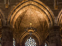 Interior of St Giles Cathedral, Edinburgh, Detail. Beautiful arches inside St Giles Cathedral, Edinburgh Stock Image