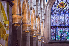 Interior of St Giles Cathedral, Edinburgh, Detail Royalty Free Stock Photography