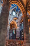 Interior of St Giles Cathedral in Edinburgh Royalty Free Stock Image