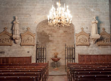Interior of St Hilaire church at Aude Stock Photo
