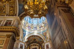 Interior of the St Isaac Cathedral, Saint Petersburg, Russia royalty free stock images
