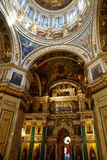 Interior of St. Isaac Cathedral, St. Petersburg. Russia Stock Photo