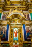Interior of St. Isaac`s Cathedral in Saint Petersburg, Russia. royalty free stock photos