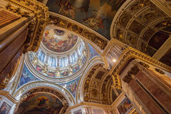 Interior of St. Isaac's Orthodox Cathedral in Saint Petersburg,. SAINT PETERSBURG, RUSSIA - MAY 23, 2016: Interior of St. Isaac's Cathedral (1819-1858). It is Royalty Free Stock Photos