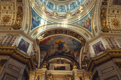 Interior of the St Isaacs Cathedral, Saint Petersburg, Russia Royalty Free Stock Photos