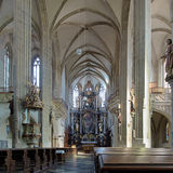 Interior of St. James Church in Kutna Hora, Czech Republic Stock Photography