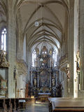 Interior of St. James Church in Kutna Hora Royalty Free Stock Images