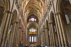 Interior of St. John's Cathedral of Lyon Stock Photography