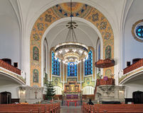 Interior of St. John's Church (Sankt Johannes kyrka) in Malmo, Sweden Royalty Free Stock Image