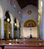 Interior of St. Joseph's Church in Nazareth Royalty Free Stock Image