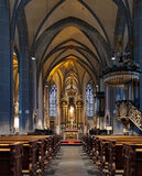 Interior of St. Lambertus Basilica in Dusseldorf Stock Photo