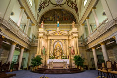 Interior of St. Louis Cathedral in Jackson Square New Orleans Royalty Free Stock Photo