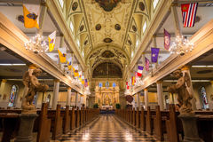 Interior of St. Louis Cathedral in Jackson Square New Orleans Royalty Free Stock Images