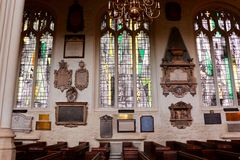Interior of St Margaret's Church, Westminster Abbey. royalty free stock photos