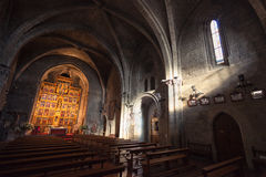 Interior of St Maria Church in Olite Royalty Free Stock Image