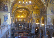 Interior of St Mark's Basilica Royalty Free Stock Image