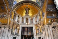 Interior of St Mark's Basilica Venice, Italy. Stock Photo