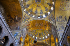 Interior of St Mark's Basilica Venice, Italy. Interior of St Mark's Basilica on June 15, 2012 in Venice Stock Image